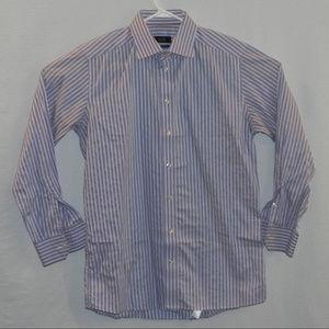 Eton Dress Shirt, 16.5, Contemporary Fit,  Blue